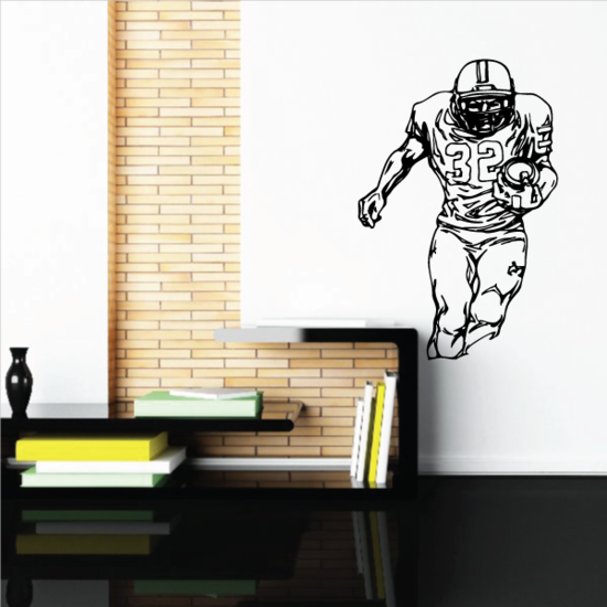 Football Player Wall Decal - Vinyl Decal - Car Decal - CDS078
