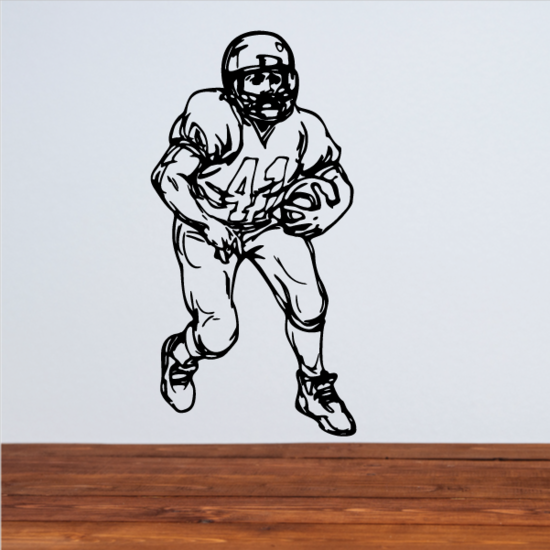Football Player Wall Decal - Vinyl Decal - Car Decal - CDS084
