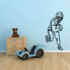 Football Player Wall Decal - Vinyl Decal - Car Decal - CDS104