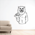 Football Mascot Wall Decal - Vinyl Decal - Car Decal - CDS122