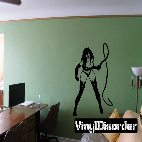 Woman Cracking Whip Decal