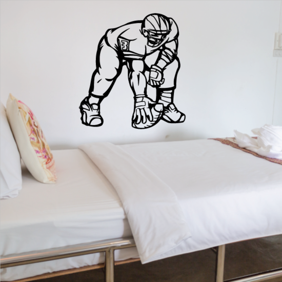 Football Player Wall Decal - Vinyl Decal - Car Decal - CDS143