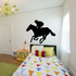 Horse racing Wall Decal - Vinyl Decal - Car Decal - Bl034