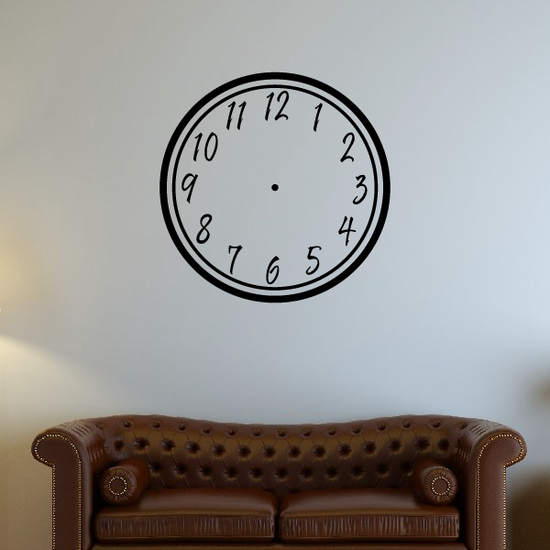 Simple Clock Face Wall Decal