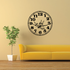 Dragonfly Clock Wall Decal