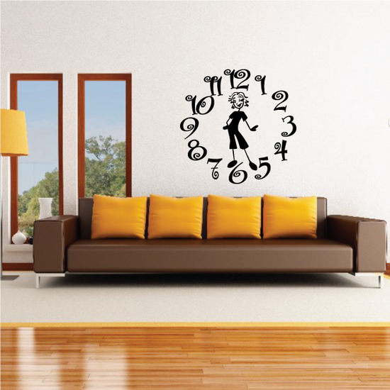 Busy Mom Clock Wall Decal