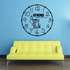 Sweing Mends the Soul Clock Face Wall Decal