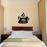 Hot Coffee Cup Decal
