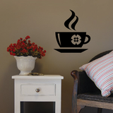 Hot Coffee Flower Mug Decal