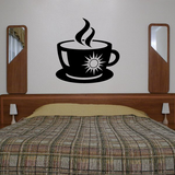 Hot Coffee Sun Mug Decal