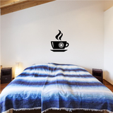 Hot Coffee Cup Side View Decal