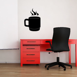 Hot Coffee Mug Decal