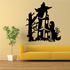 Haunted House with Ghost Decal