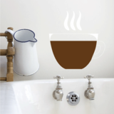 Steaming Coffee Cup Sticker
