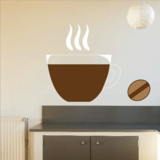 Coffee Cup and Bean sticker