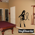 Dominatrix with Whip Decal