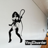 Masked Woman with Whip Decal