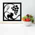 Wine Grapes Square Decal