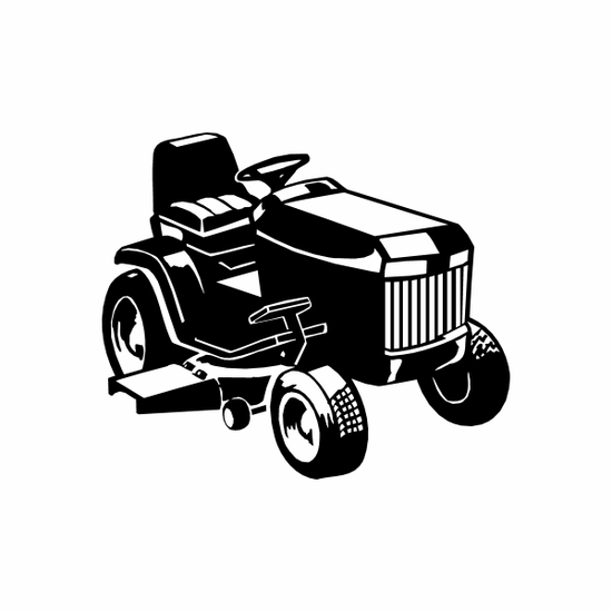 Riding Lawn Mower Decal