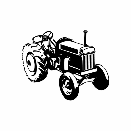 Detailed Tractor Decal