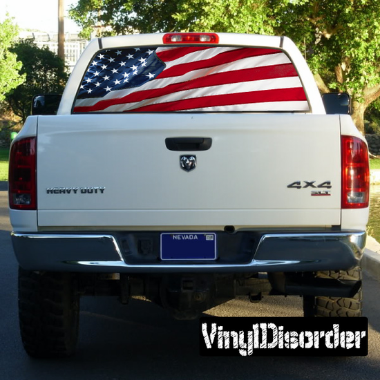 American Pride Rear Window View Through Graphic Og004