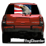 American Pride Rear Window View Through Graphic Og007