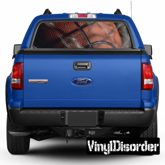 Sports Basketball Rear Window View Through Graphic Og003