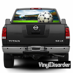 Soccer and Futbol Rear Window View Through Graphics