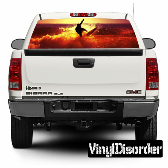 Surfing Rear Window View Through Graphics