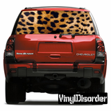 Animal Print Leopard Rear Window View Through Graphic Og001