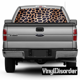 Animal Print Leopard Rear Window View Through Graphic Og003