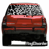 Animal Print Snow Leopard Rear Window View Through Graphic Og001