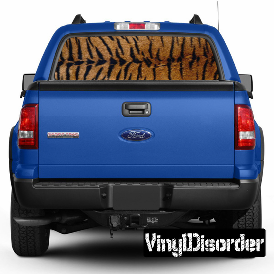 Animal Print Tiger Rear Window View Through Graphic Og001