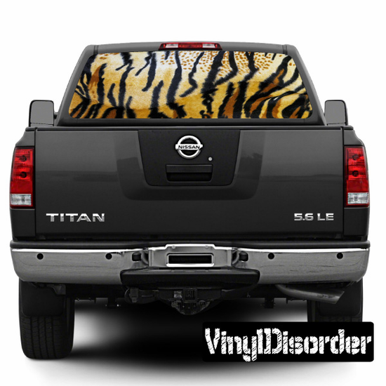 Animal Print Tiger Rear Window View Through Graphic Og002
