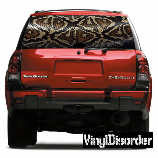 Camouflage Rear Window View Through Graphic Og003
