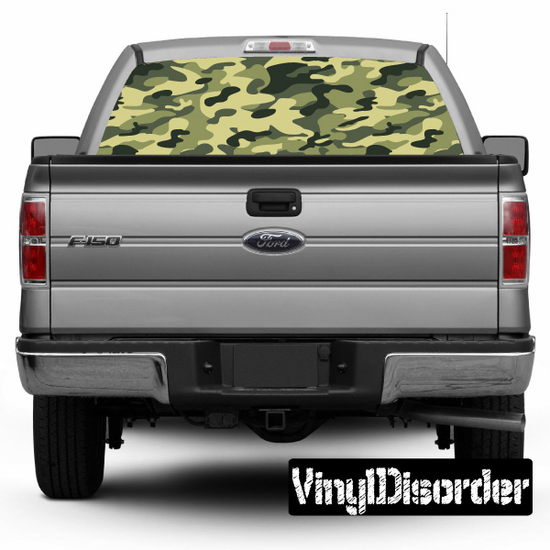Camouflage Rear Window View Through Graphic Og005