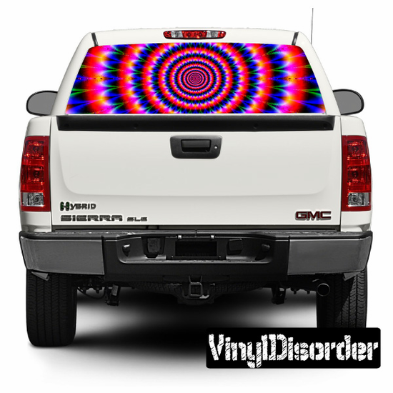 Psychedelic Rear Window View Through Graphic Og006