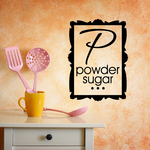 Powder Sugar Square Decal