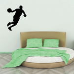 Driving To The Hoop Basketball Wall Decal - Vinyl Decal - Car Decal - 009