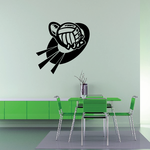 Volleyball Wall Decal - Vinyl Decal - Car Decal - CDS011