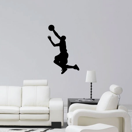 Lay Up Basketball Wall Decal - Vinyl Decal - Car Decal - 011