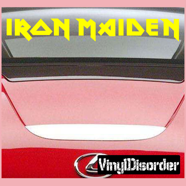 Iron Maiden Silver Bands Automotive Decal//Bumper Sticker