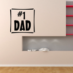 Number 1 dad Decal