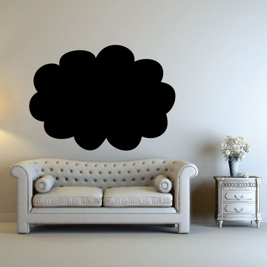 Cloud Chalkboard Jar Label Decal
