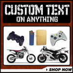 All Custom Text Decals