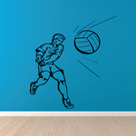 Volleyball Wall Decal - Vinyl Decal - Car Decal - CDS018