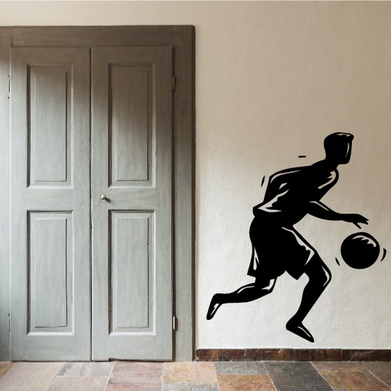 Basketball Dribble Running Decal