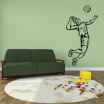 Volleyball Wall Decal - Vinyl Decal - Car Decal - CDS022