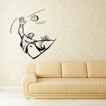 Volleyball Wall Decal - Vinyl Decal - Car Decal - CDS023