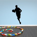 Basketball Player Attentive Dribble Decal